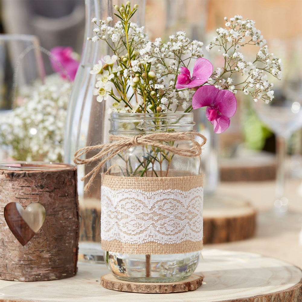 Hessian Glass Jar