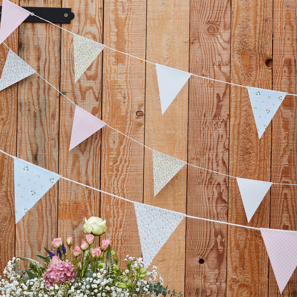 Floral Flag Bunting (10m)
