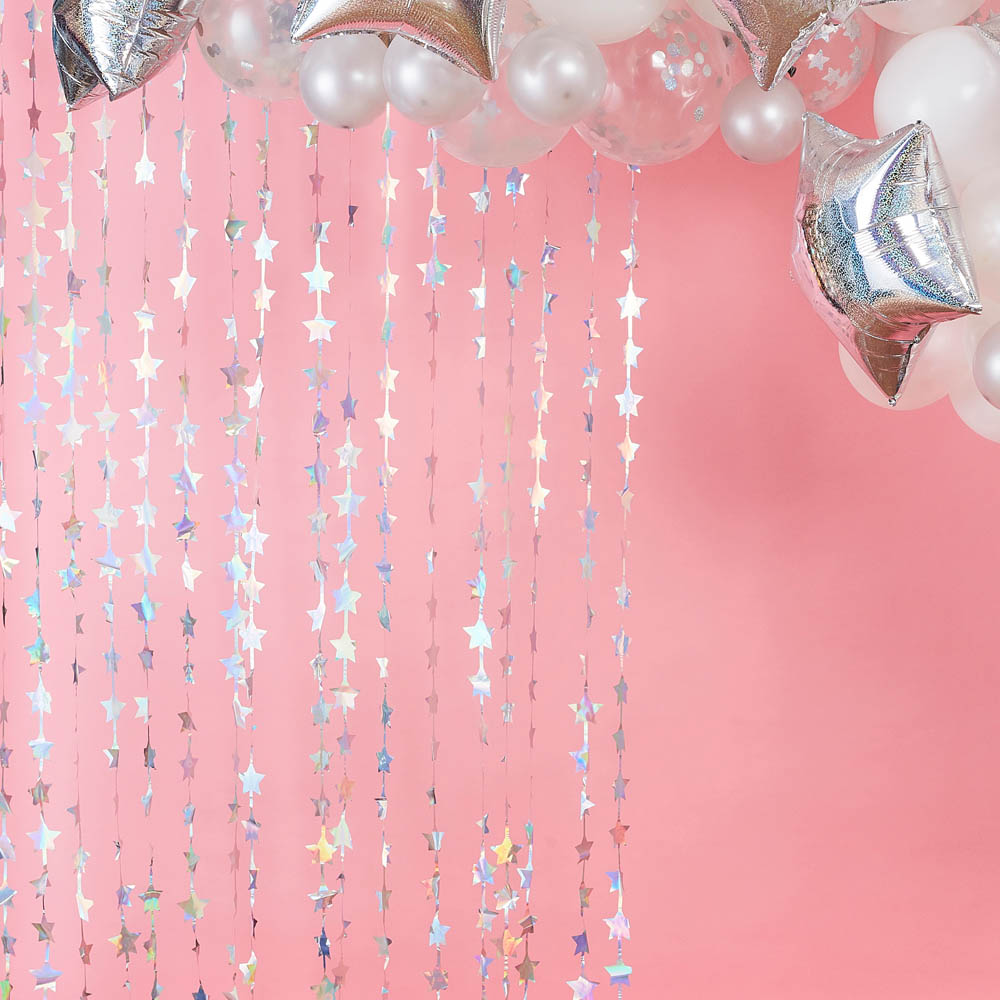 Star Backdrop Curtain - Iridescent