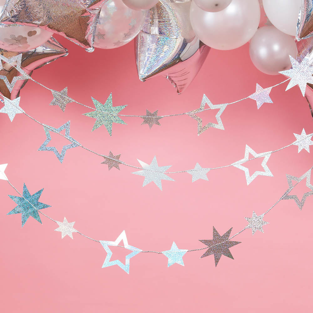 Star Shaped Garland - Iridescent (5m)