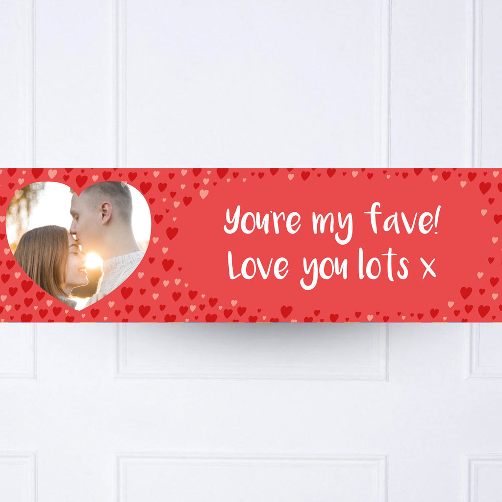 Love Hearts Personalised Party Banner