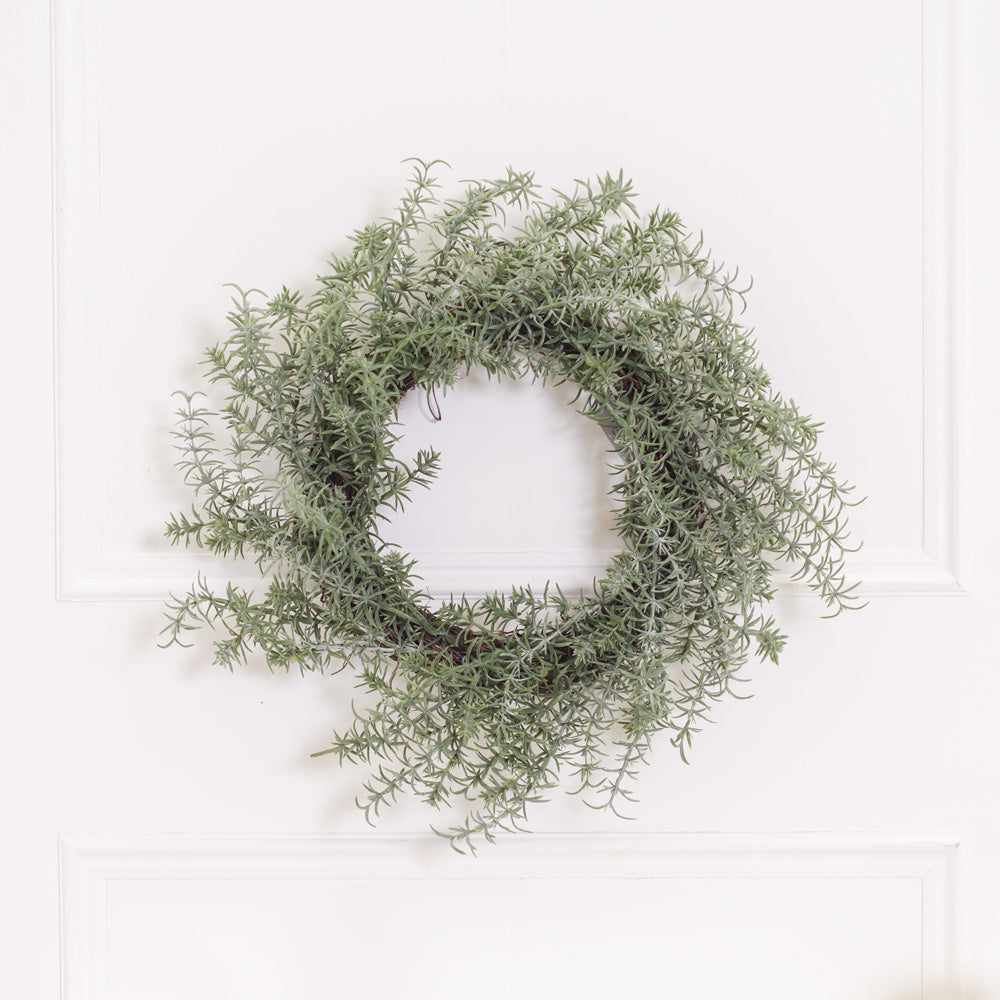 Faux Rosemary Wreath
