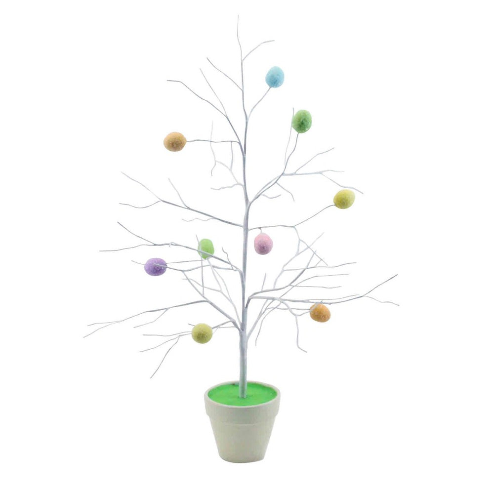 Pastel Egg Twig Tree In Pot