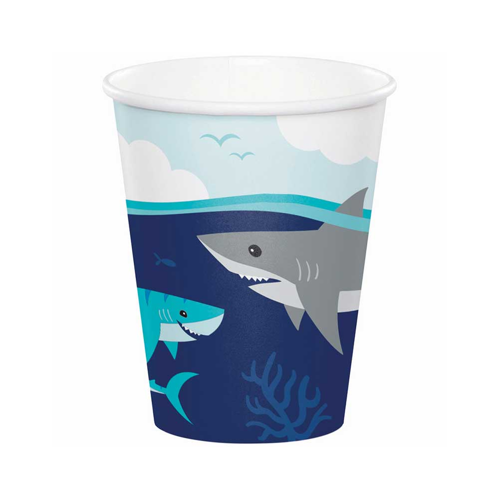 Shark Party Paper Cups (x8)