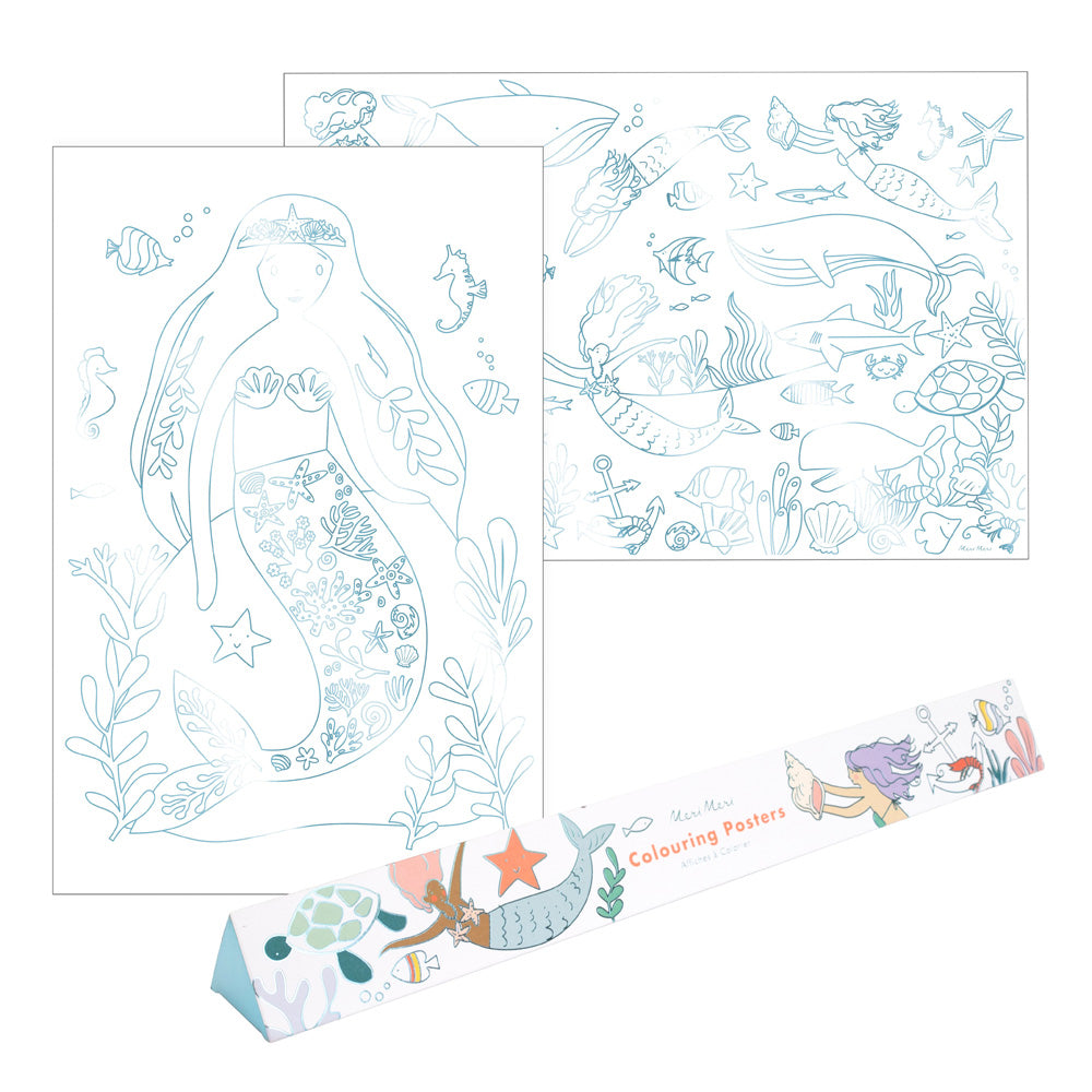 Mystical Mermaids Colouring Poster