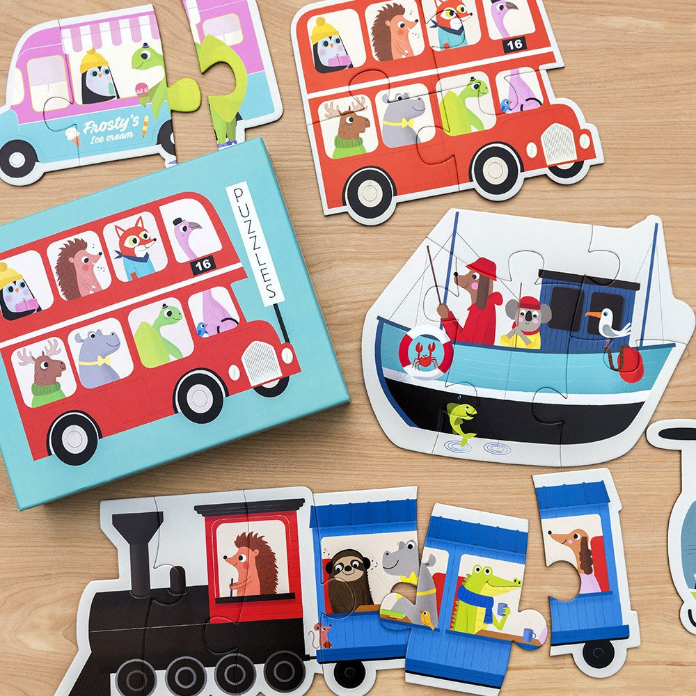 Set of 6 Transport Puzzles