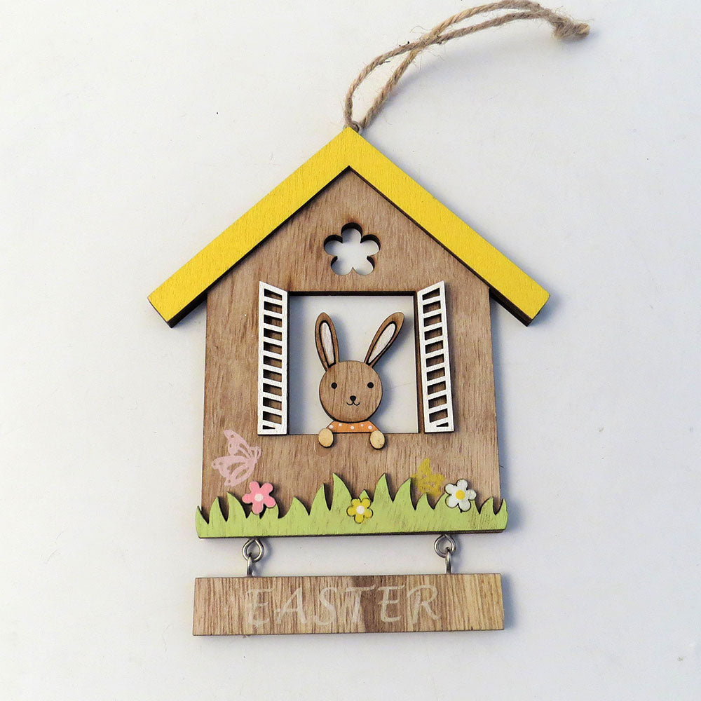 Wooden Easter Window Decoration