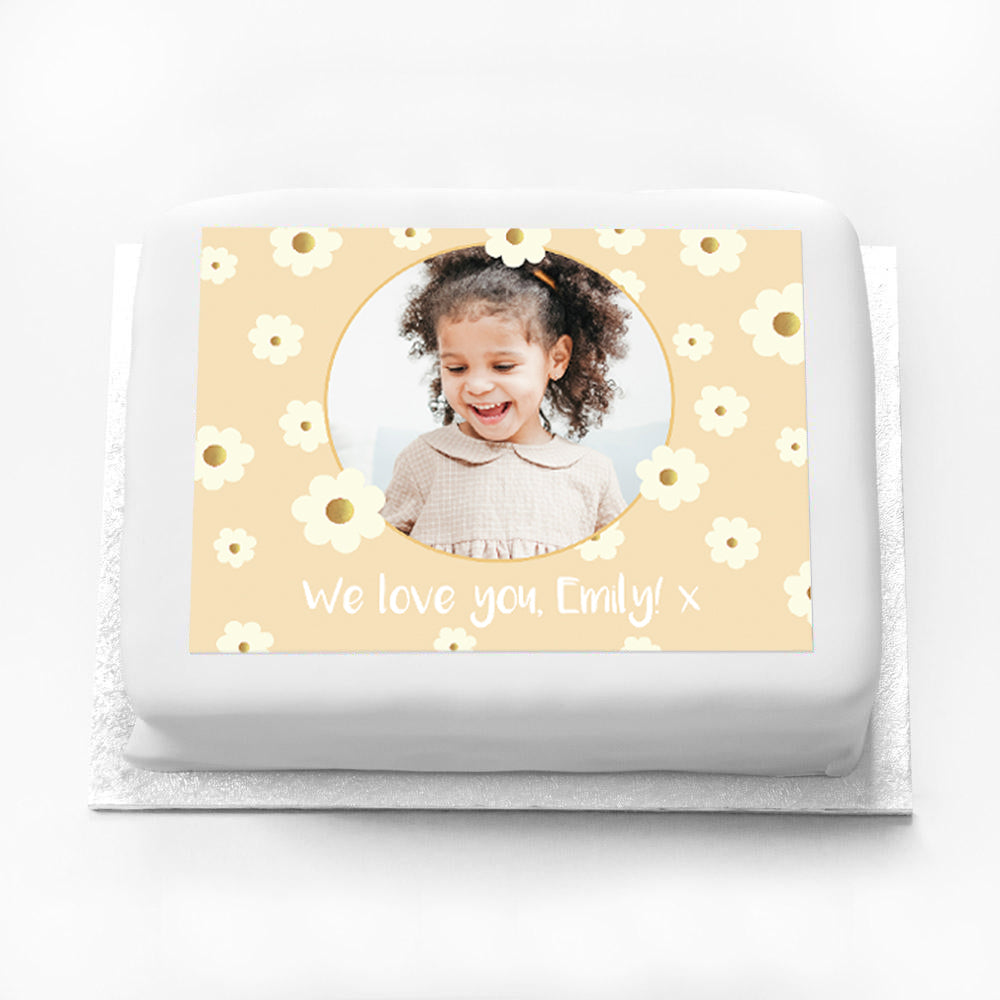 Personalised Photo Cake - Crazy Daisy