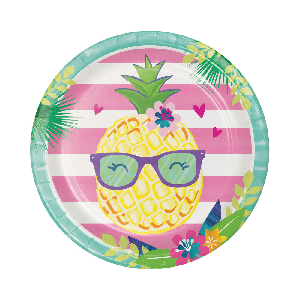 Pineapple & Friends - Paper Party Plates (x8)