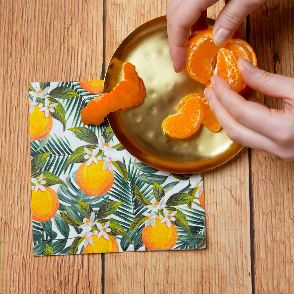 Tropical Palm - Orange Party Napkins (x20)