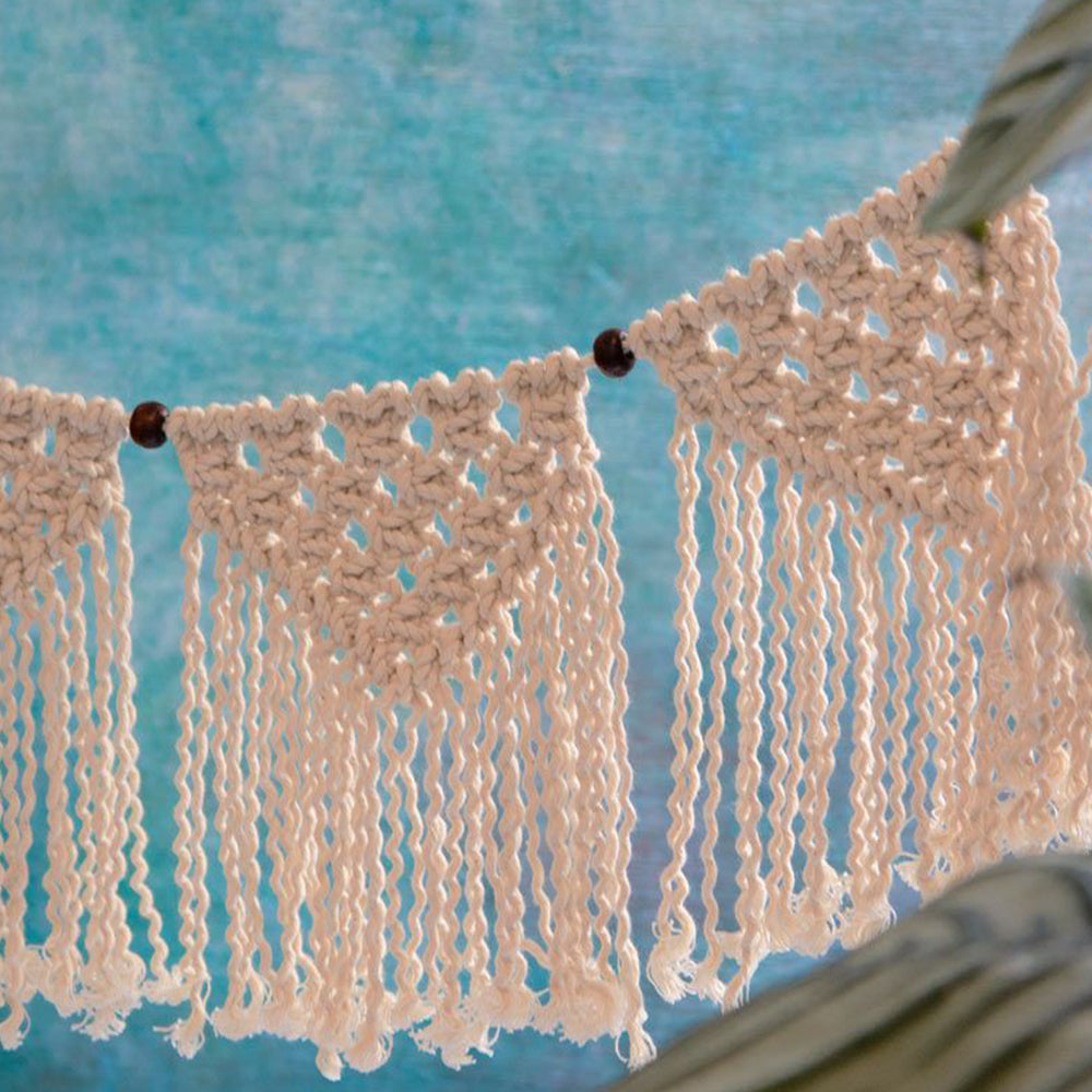 Boho Cream Cotton Macrame Garland (1.3m)