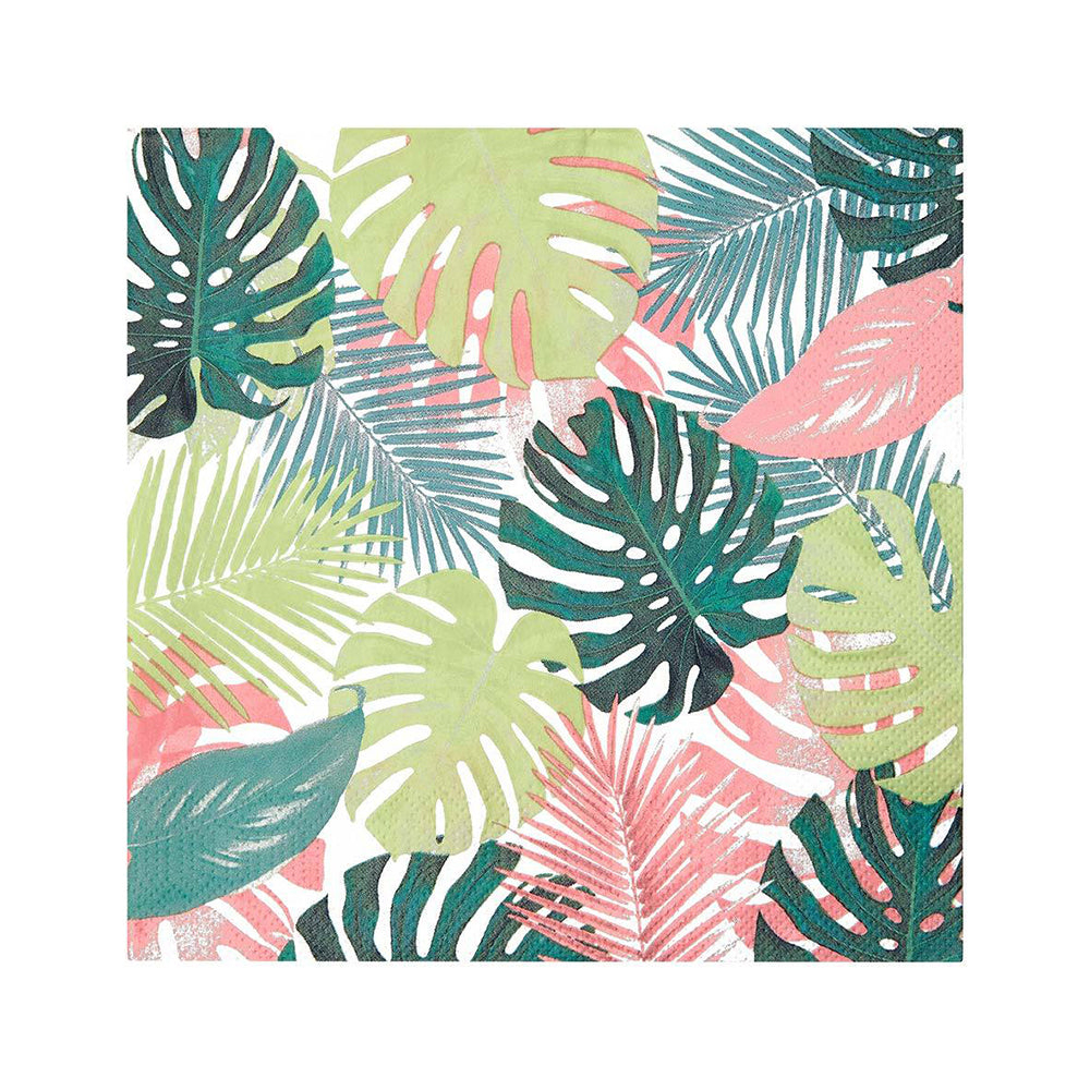Tropical Palm - Pastel Leaf Party Napkins (x20)