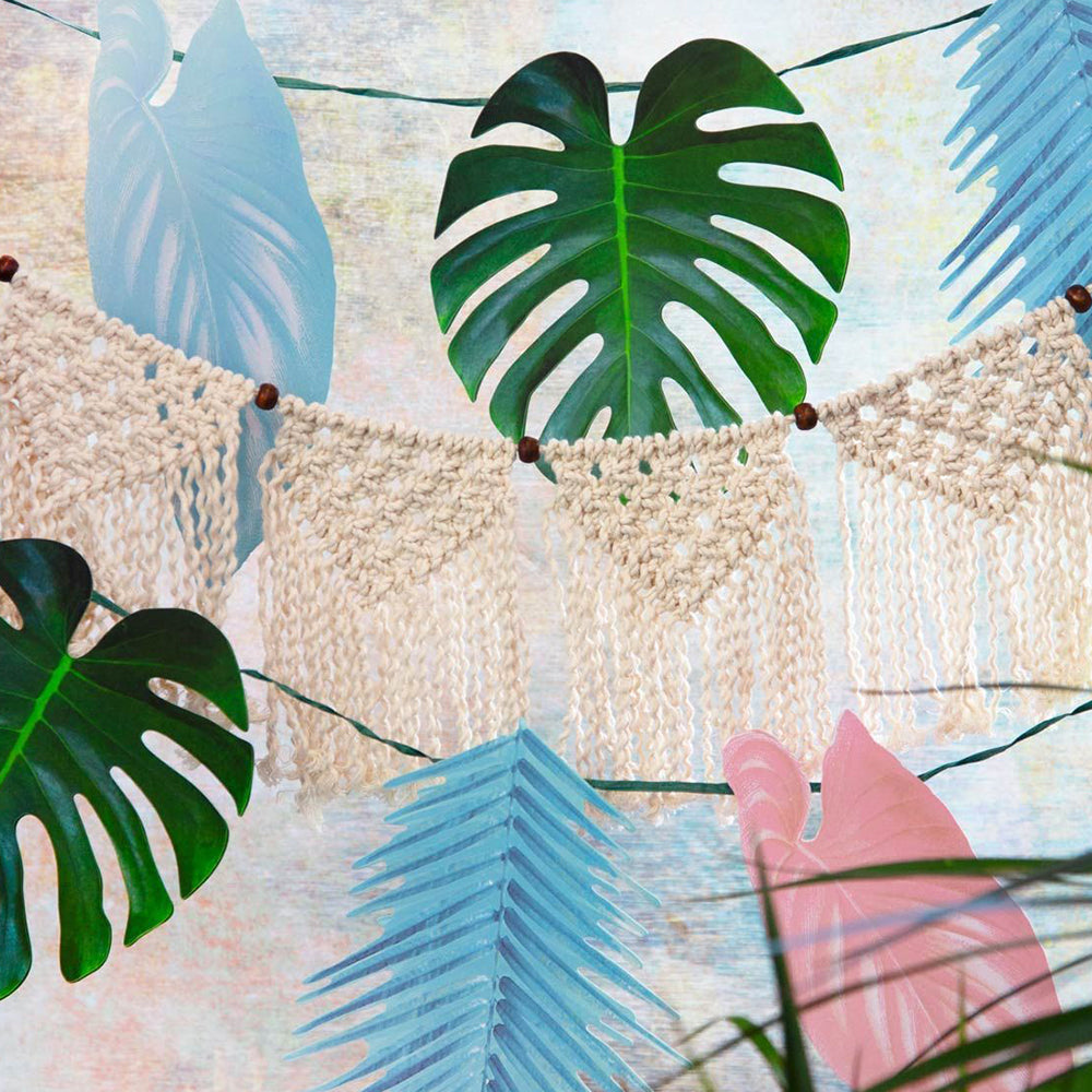 Tropical Palm - Pastel Leaf Garland