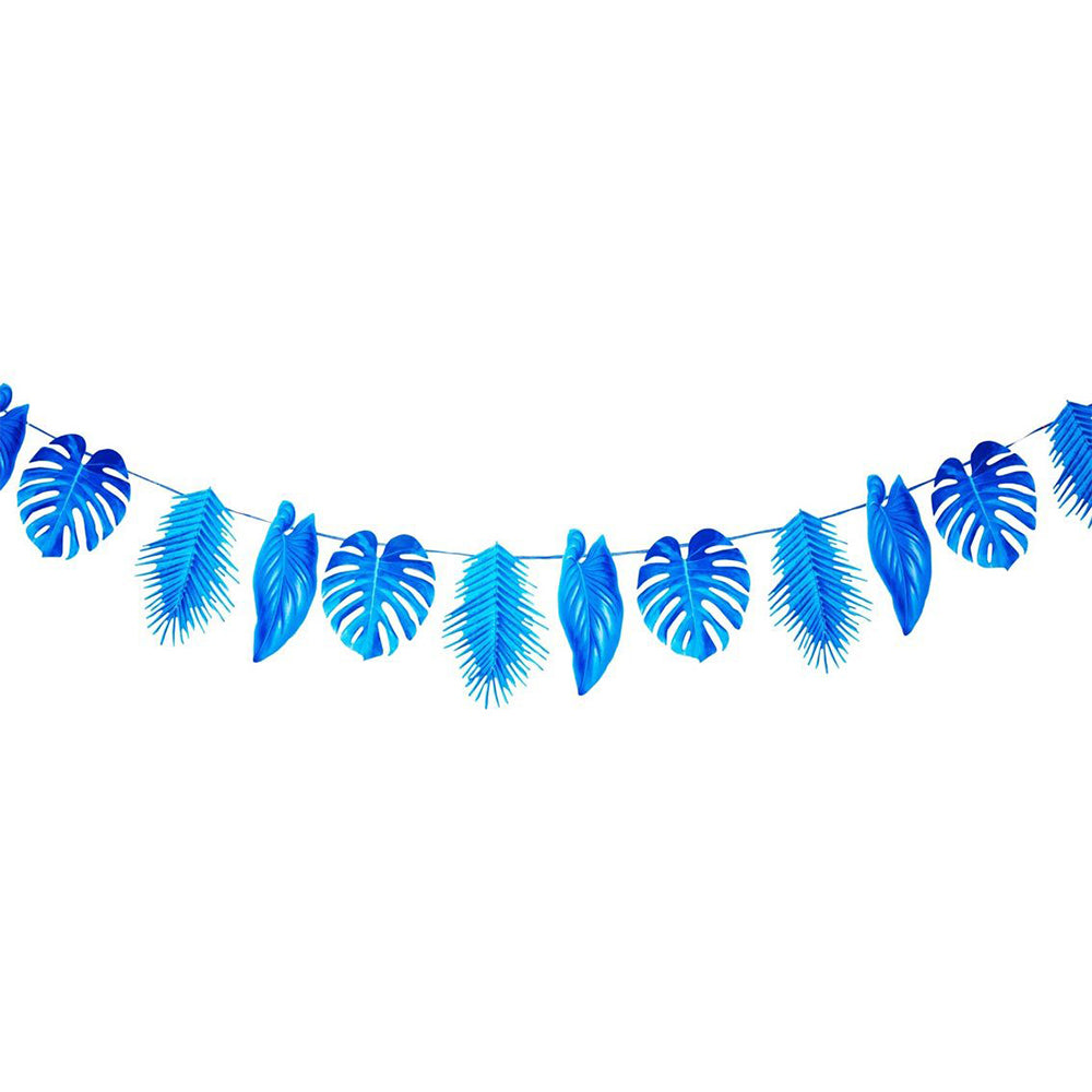 Tropical Palm - Blue Leaf Garland