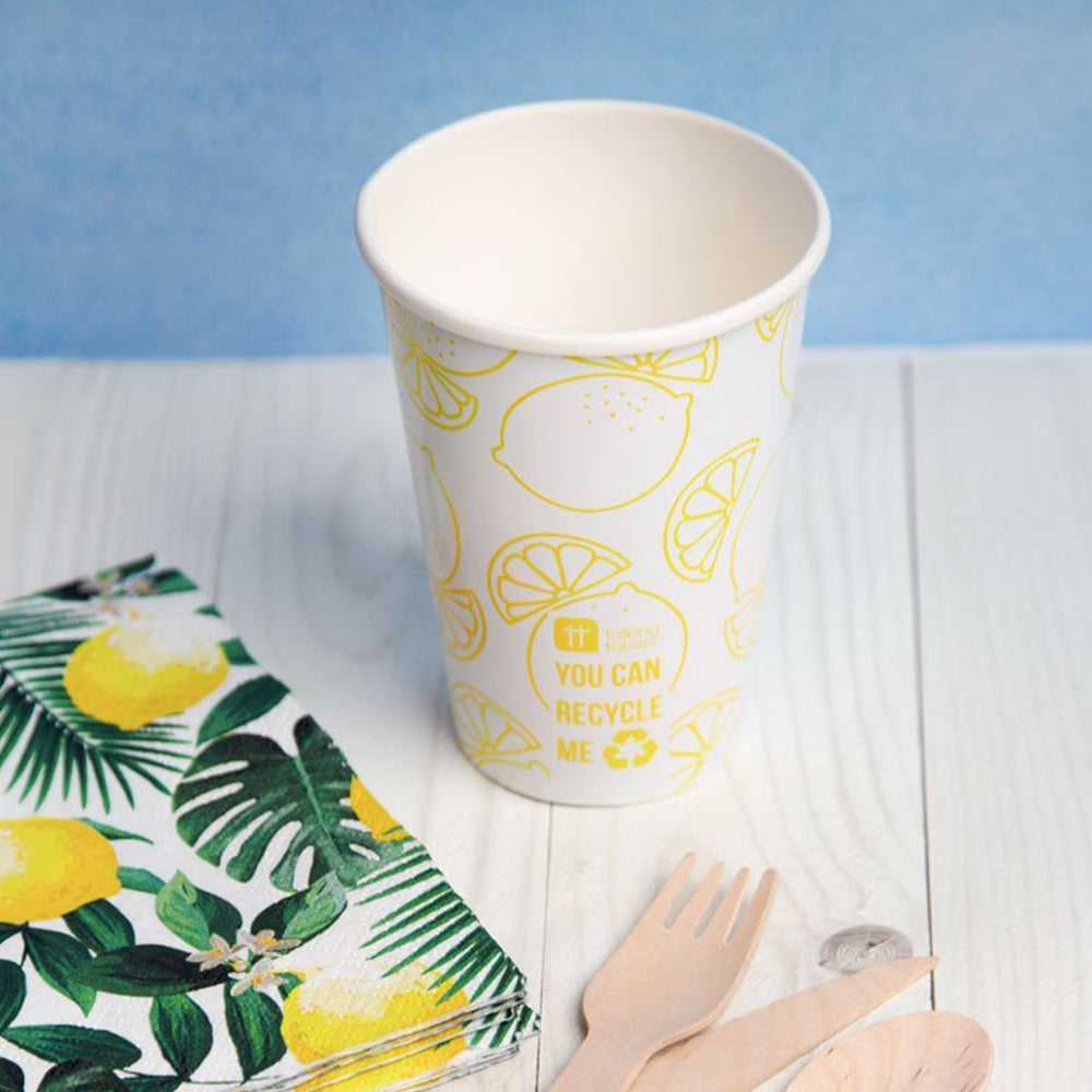 Lemon Paper Party Cups (x8)