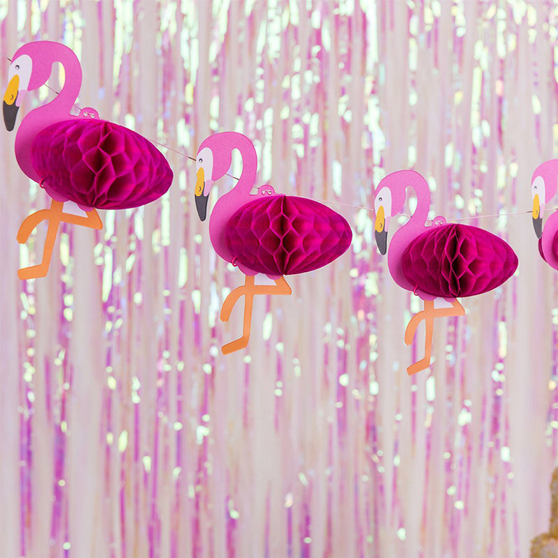 Mini Flamingo Honeycomb Garland