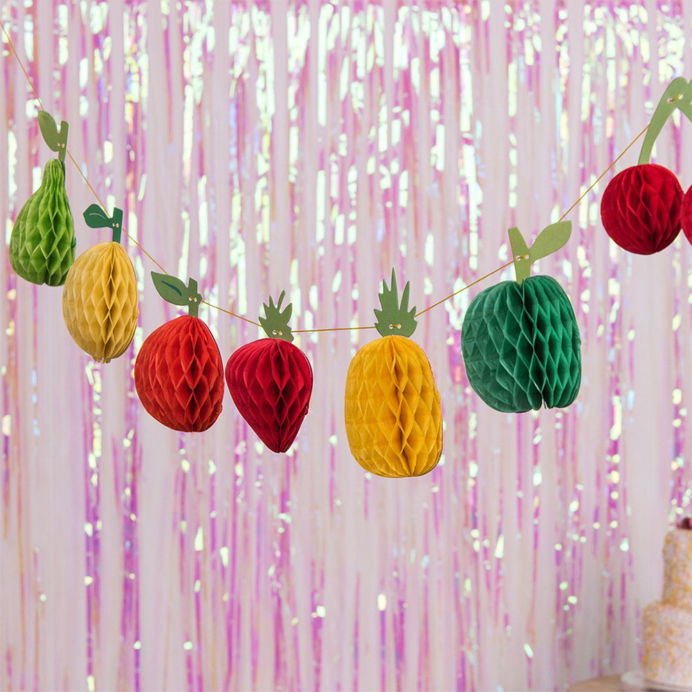 Mini Tutti Frutti Honeycomb Garland