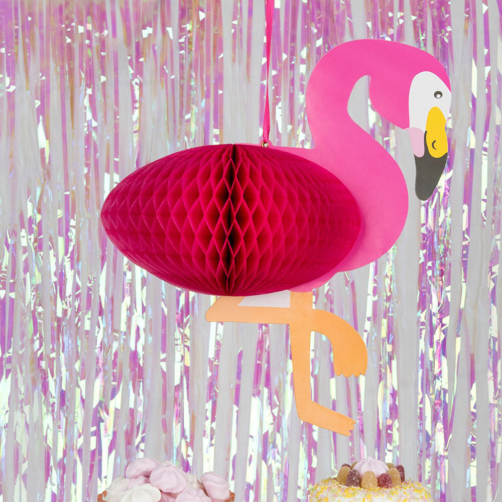 Flamingo Honeycomb Hanging Decoration