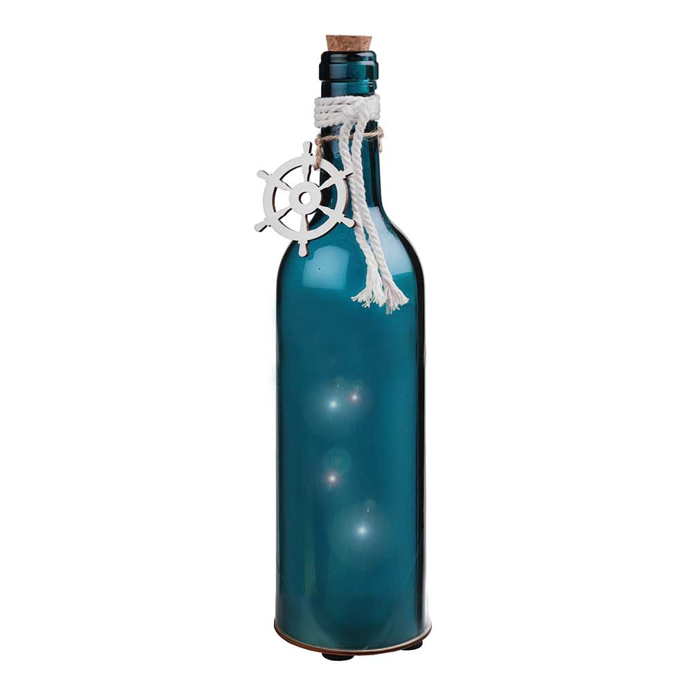 LED Light Up Blue Bottle Decoration