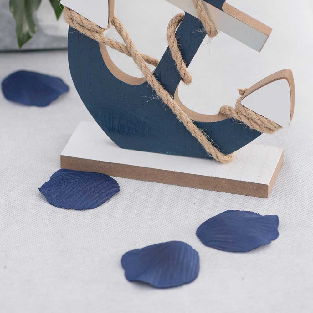 Blue Petals & Leaves Table Scatter