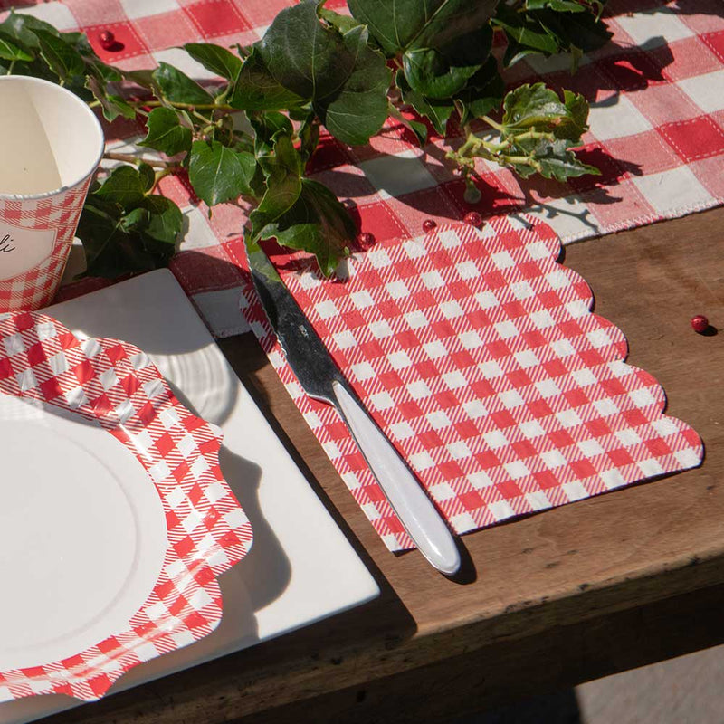 Gingham Party Napkins (x20)