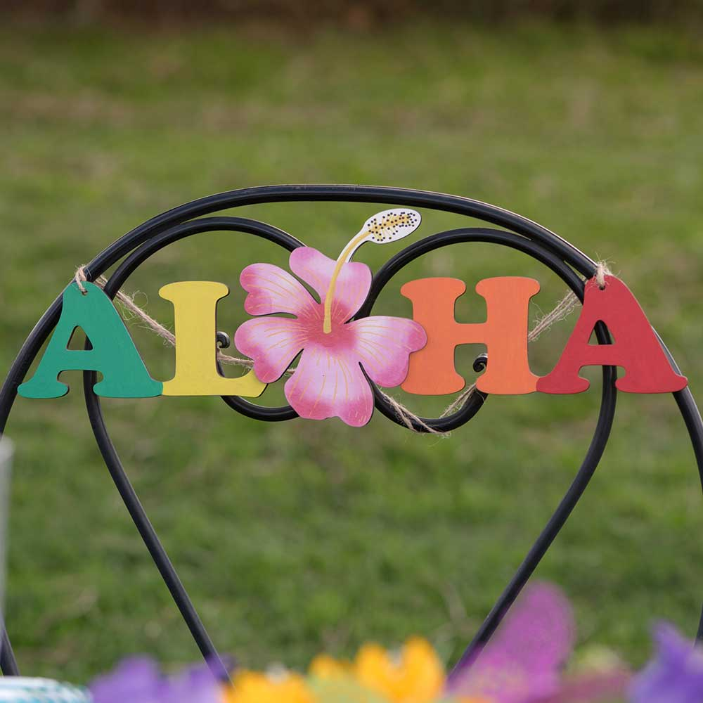 Aloha Wooden Hanging Decoration