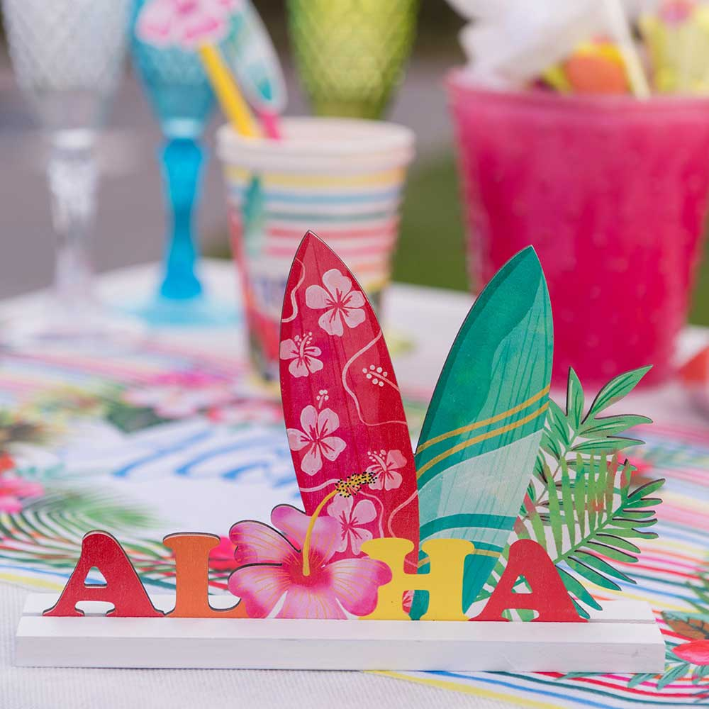 Aloha Wooden Centrepiece Decoration