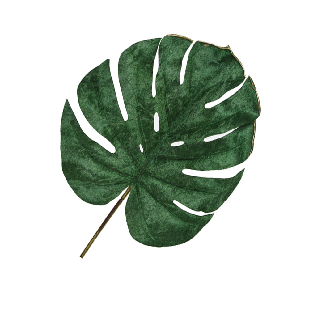 Monstera Leaf Decoration with Golden Edge