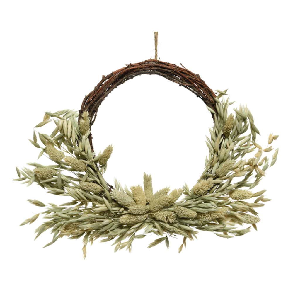Natural Oat Wreath Decoration