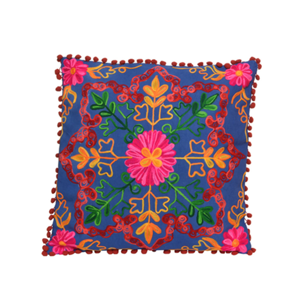 Boho Cushion - Blue