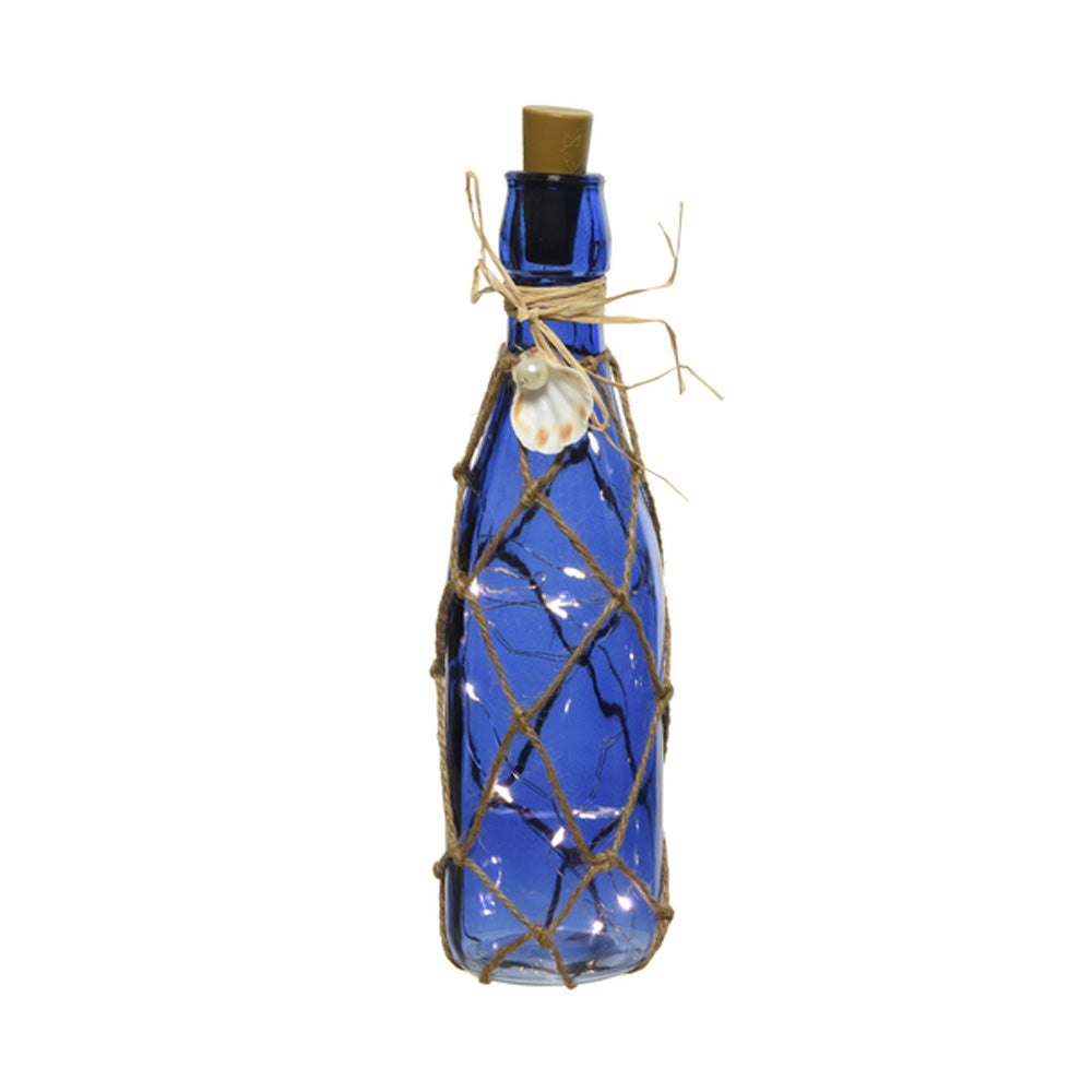LED Glass Bottle Decoration - Classic Blue