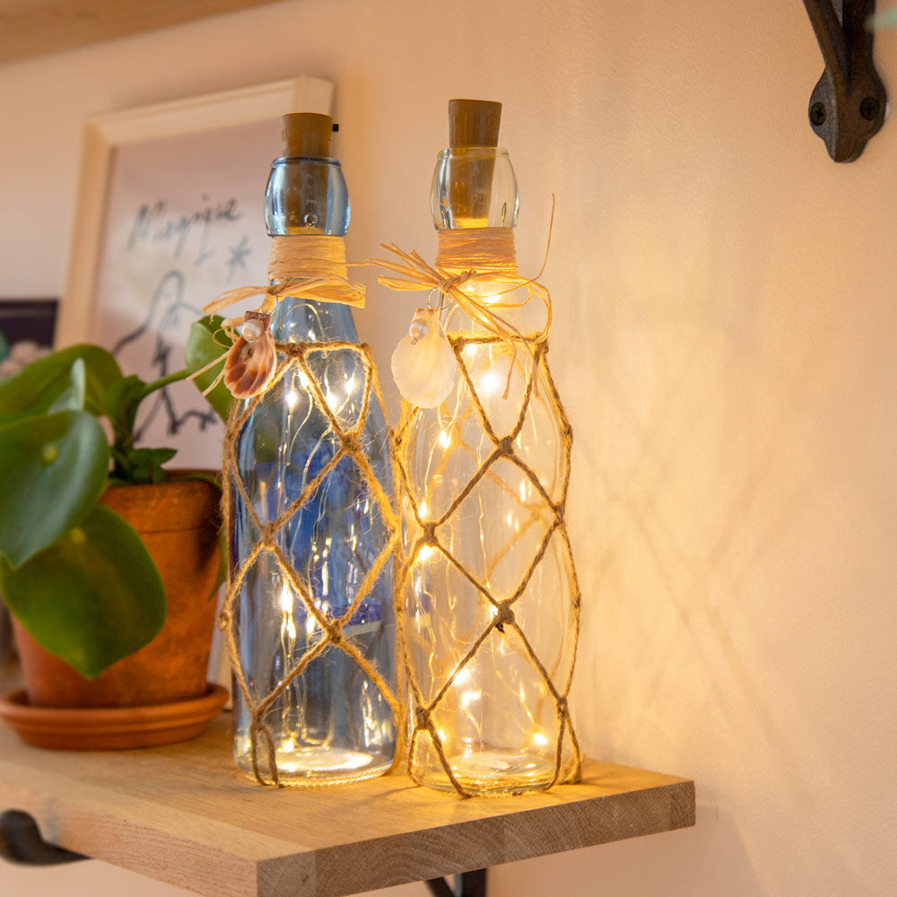 LED Glass Bottle Decoration - Clear