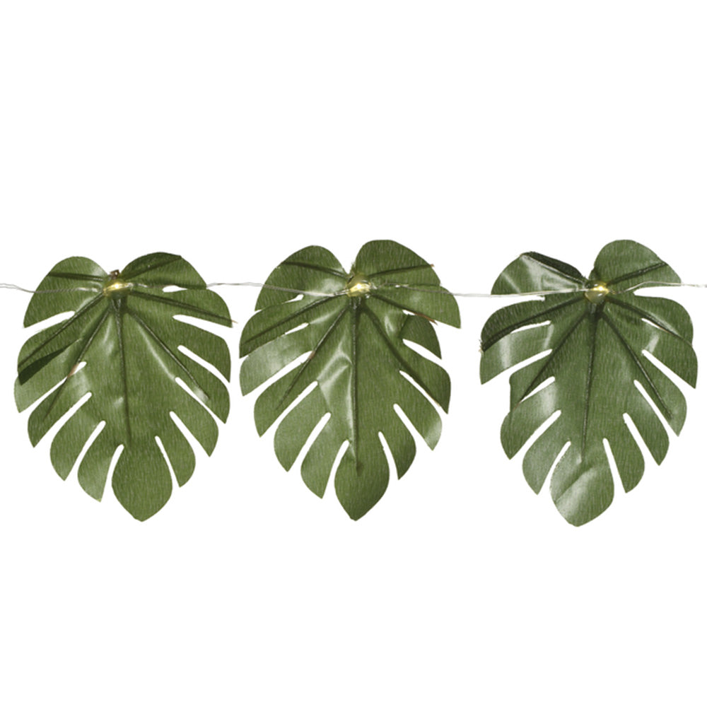 Tropical Leaf LED String Lights