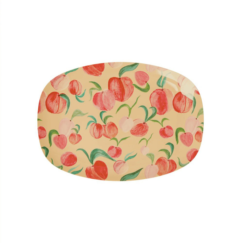 Peach - Melamine Rectangular Small Plate