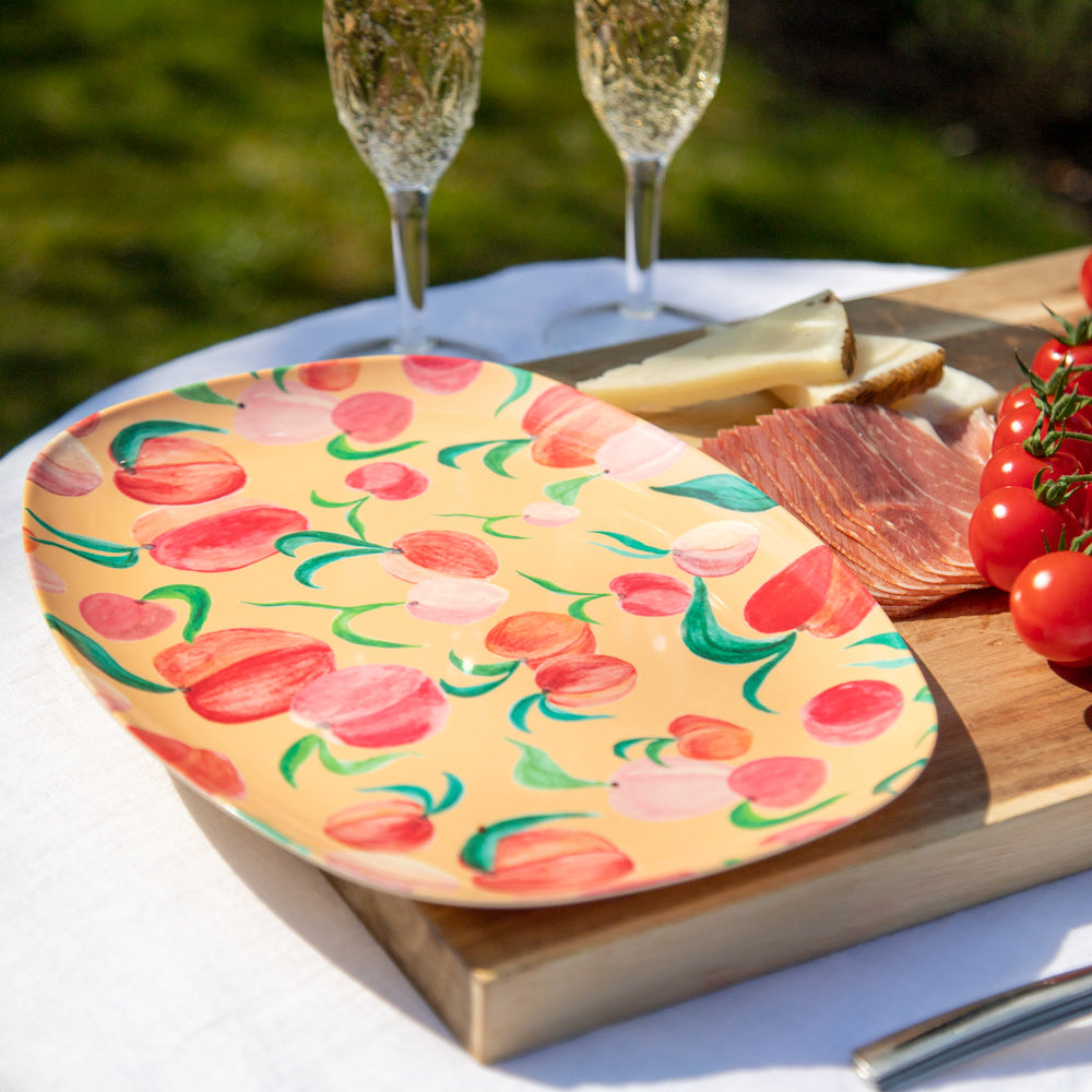 Peach - Melamine Rectangular Plate