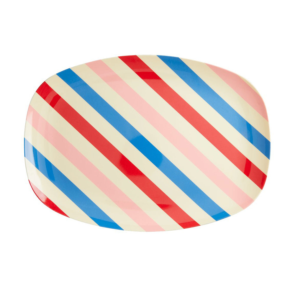 Candy Stripes - Melamine Rectangular Plate