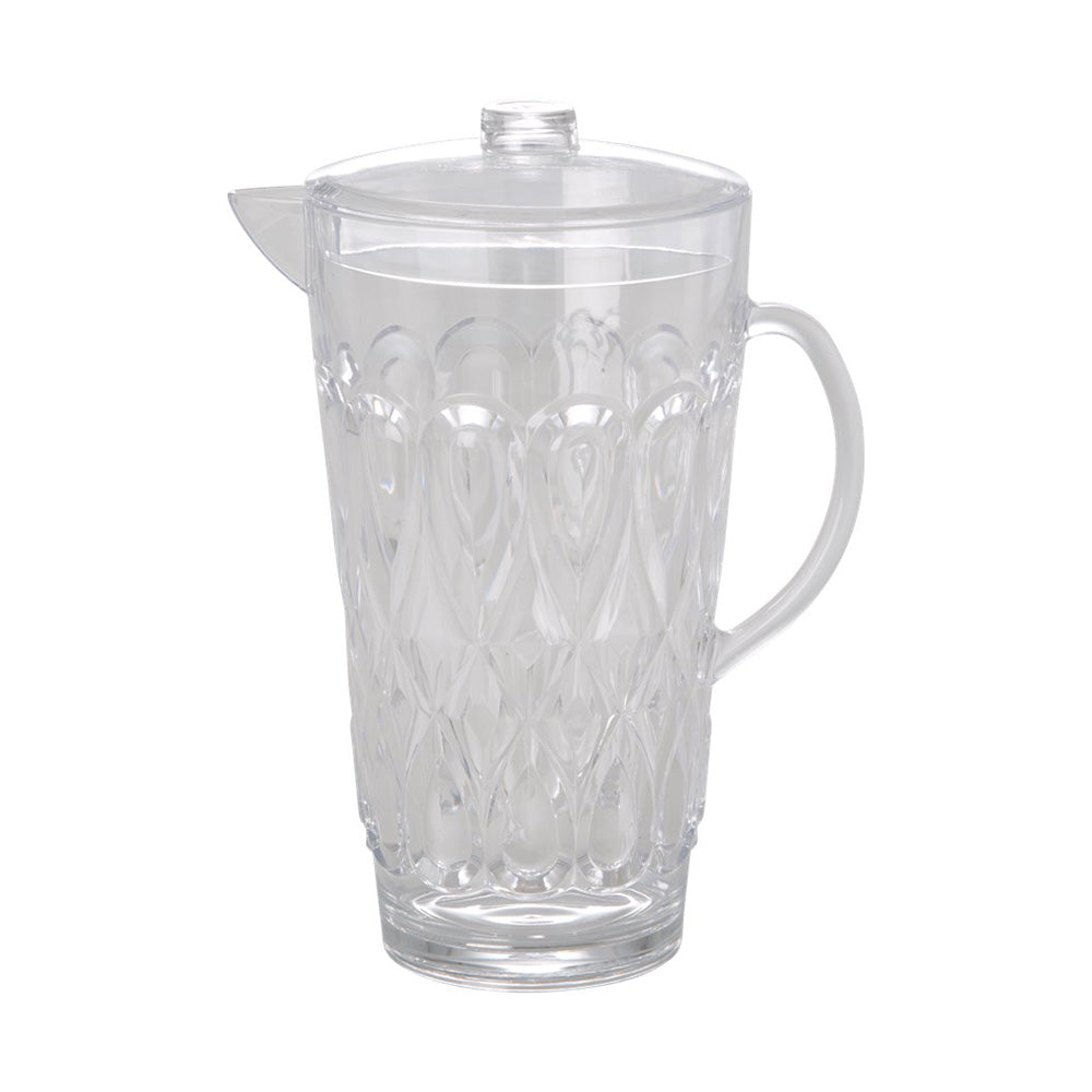 Acrylic Jug with Embossed Detail - Clear