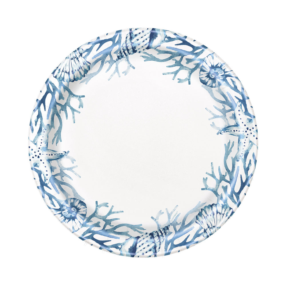 Blue Reef Paper Party Plates (x8)