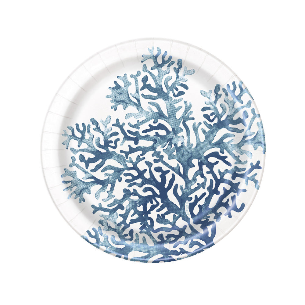 Blue Reef Small Paper Party Plates (x8)