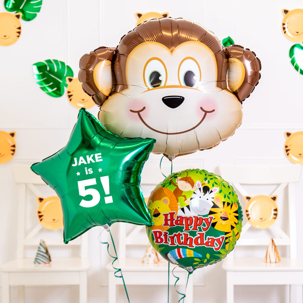 Personalised Inflated Balloon Bouquet in a Box - In The Jungle