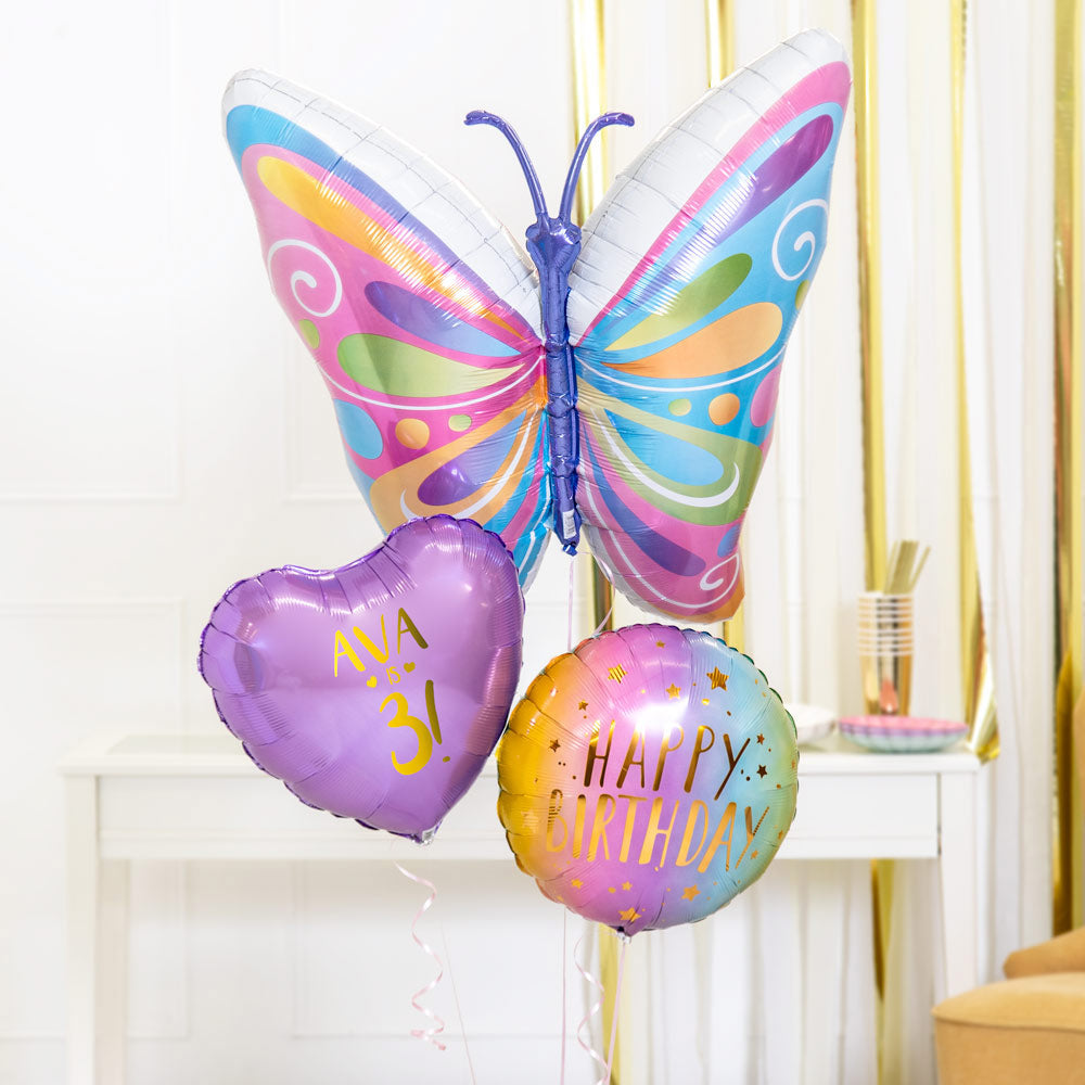 Personalised Inflated Balloon Bouquet in a Box - Pastel Spring Celebration