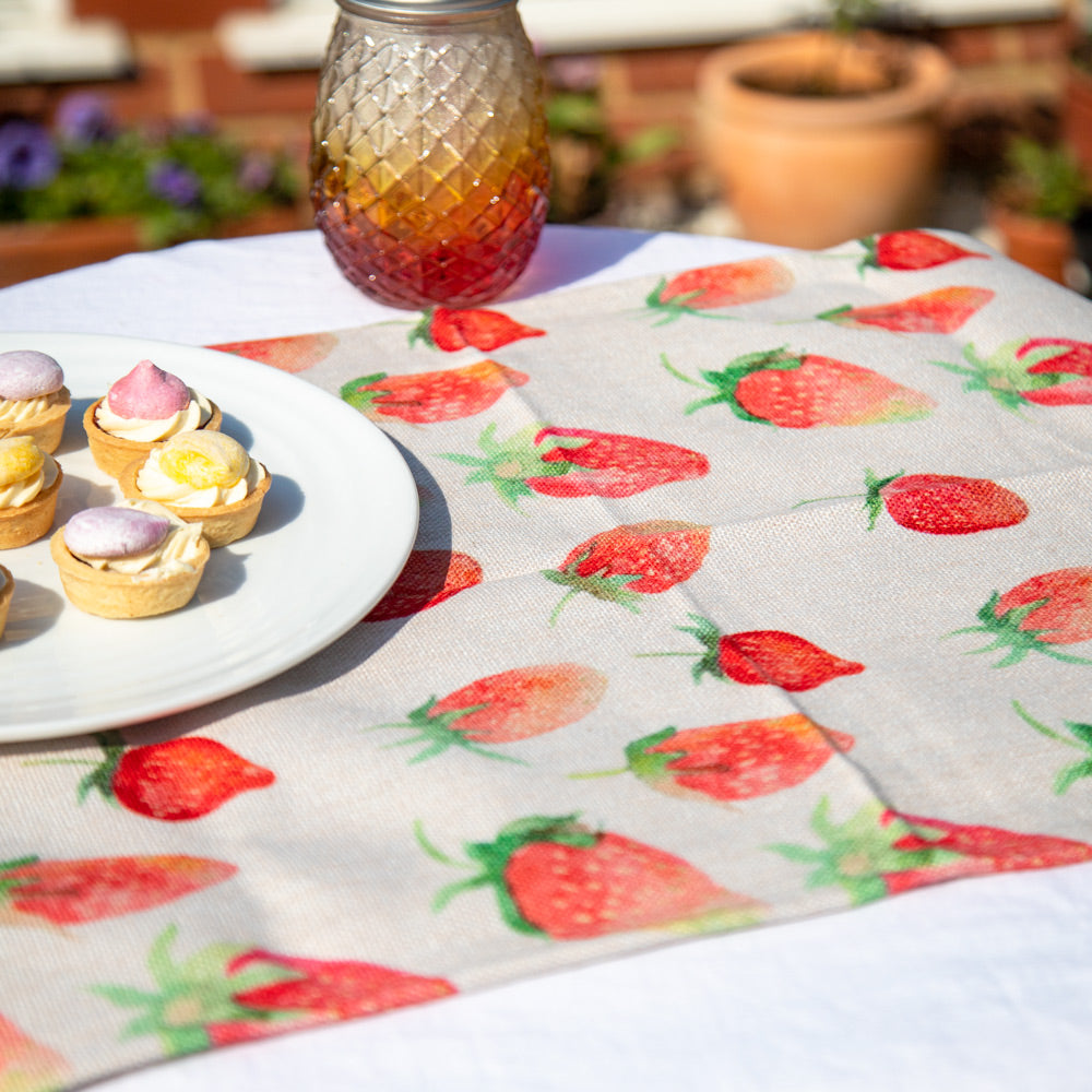 Strawberry Print Fabric Runner