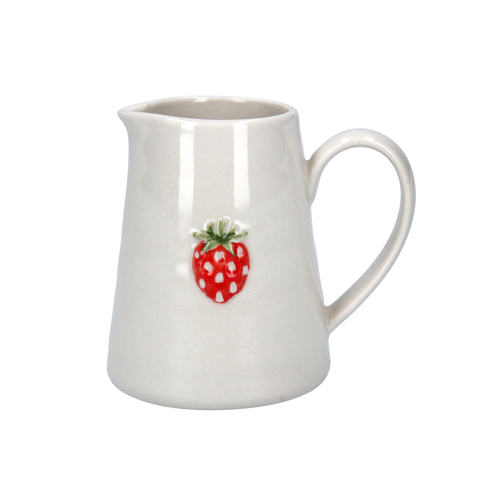 Ceramic Mini Jug with Strawberry Design