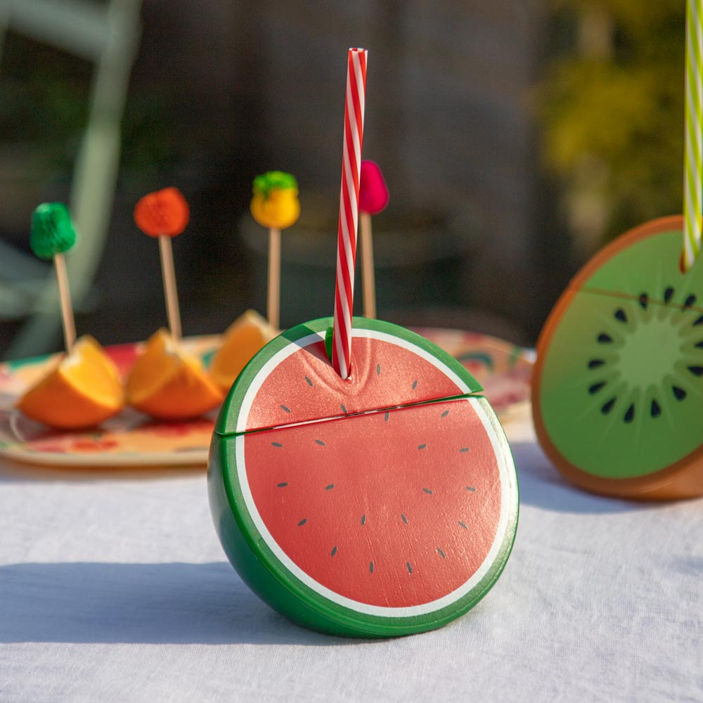 Watermelon Cup with Straw