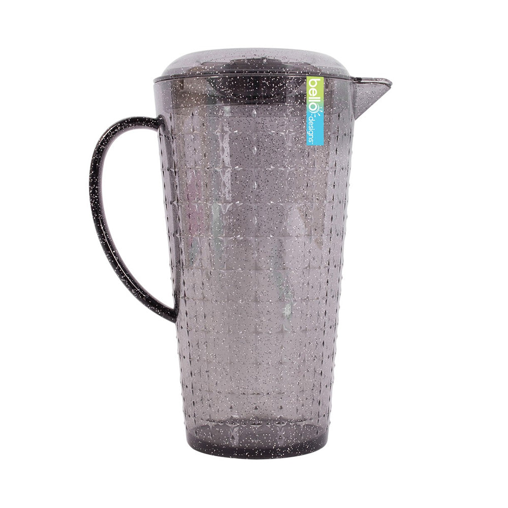 Reusable Grey Glitter Pitcher with Lid (2L)