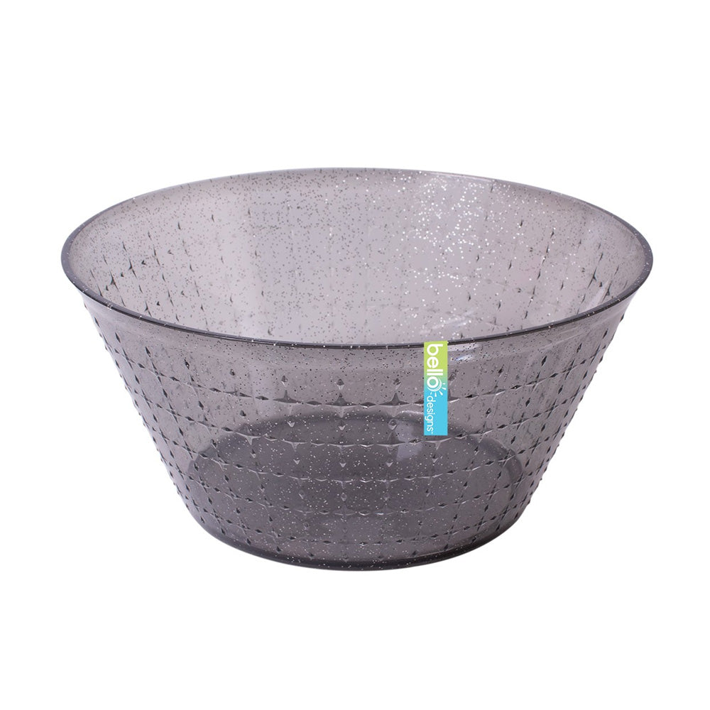 Reusable Grey Glitter Medium Bowl