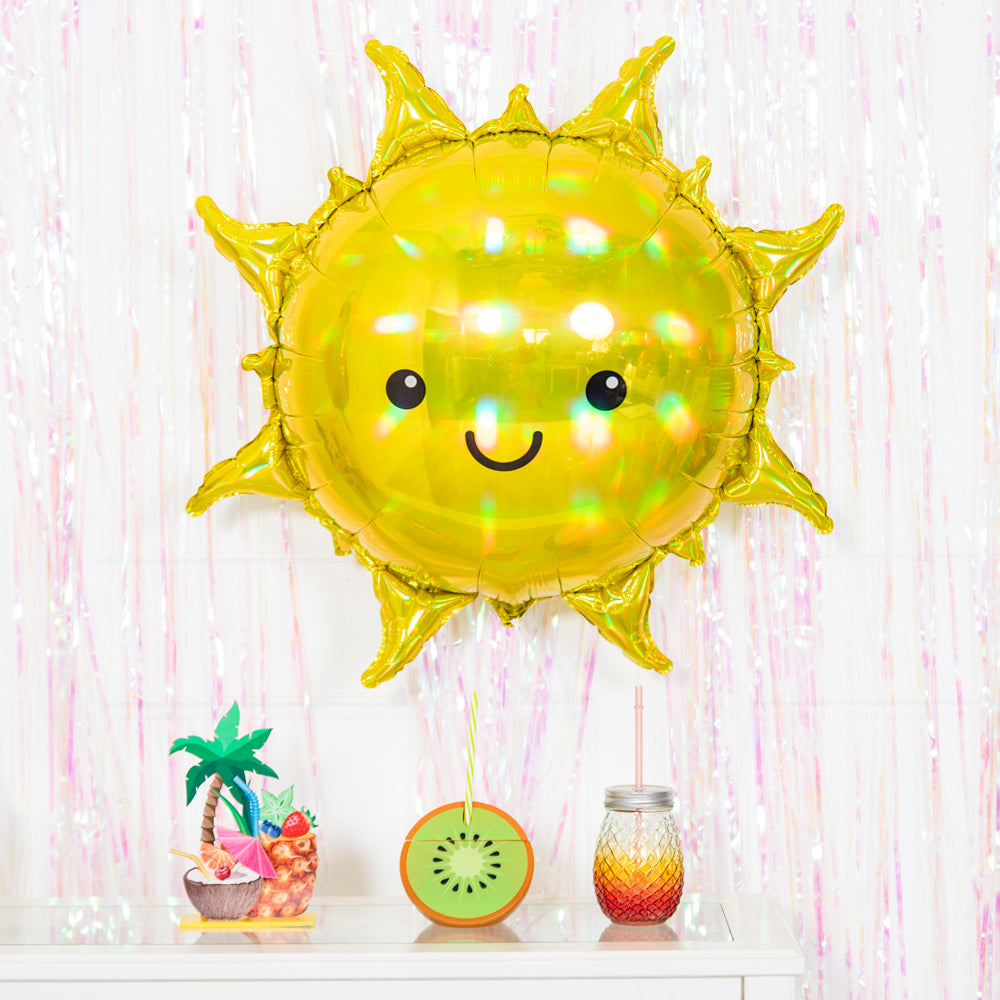 Iridescent Sun Supershape Foil Balloon (27in)