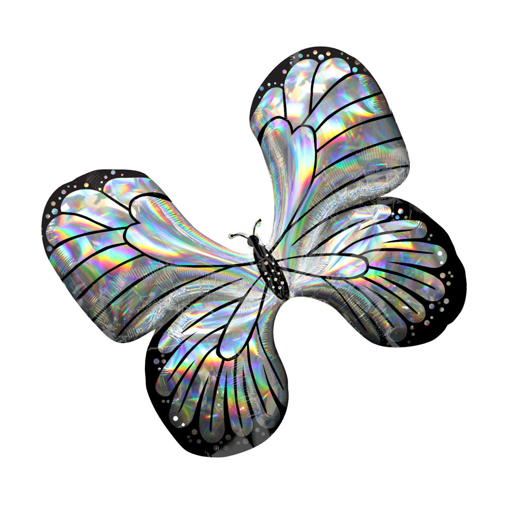 Iridescent Butterfly Supershape Foil Balloon