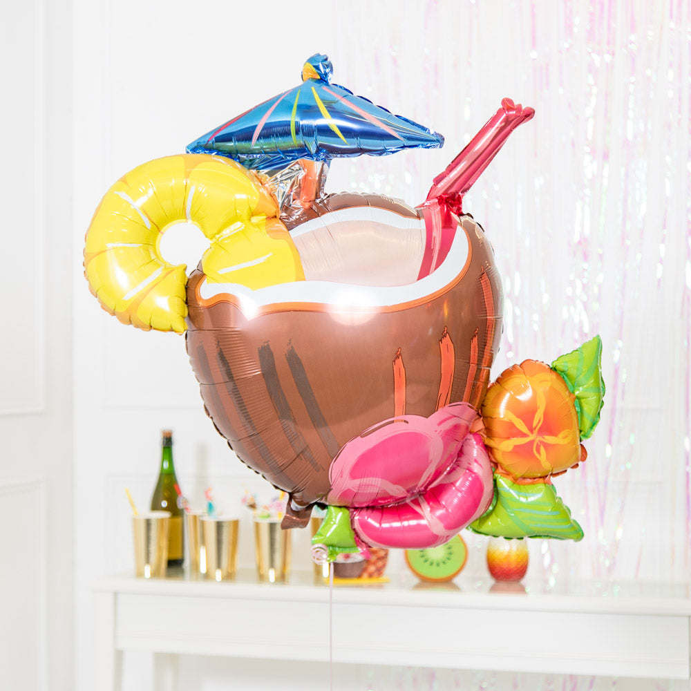 Coconut Piña Colada Supershape Foil Balloon