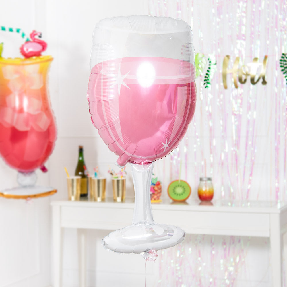 Rosé Wine Glass Supershape Foil Balloon